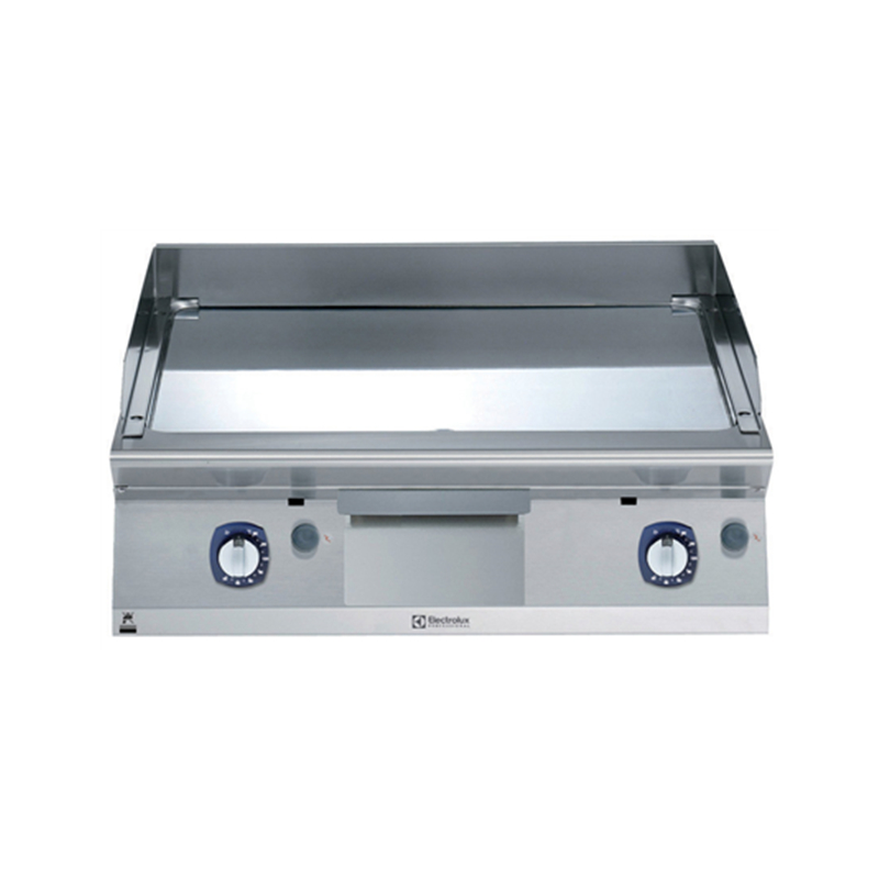 371038 Gas Fry top smooth + chrome plate 800mm